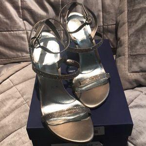 Stuart Weitzman Swarovski Embellished Sandals NWOT